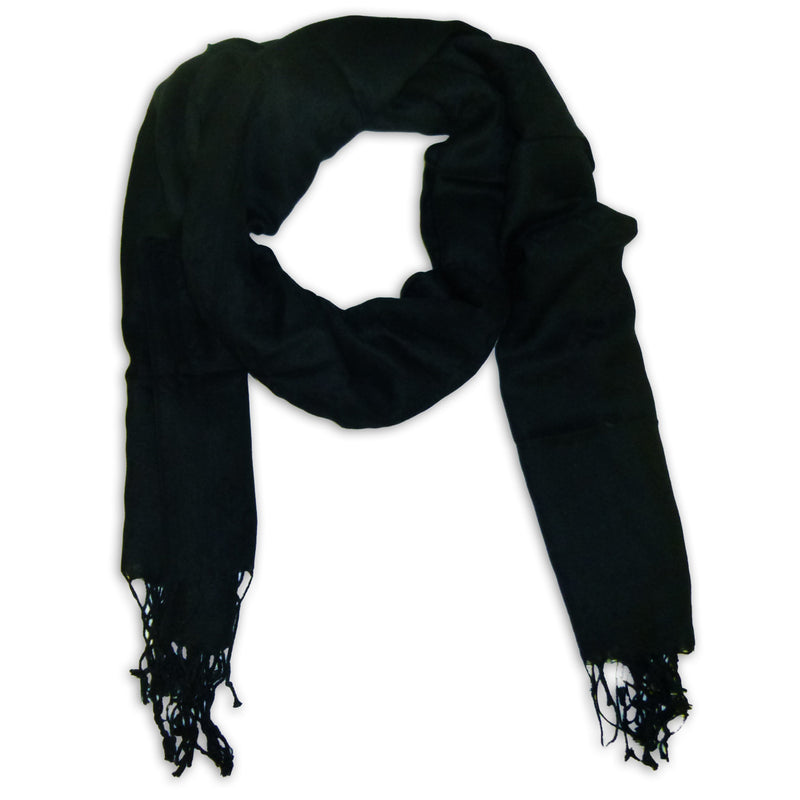 Women's Fancy Winter Scarf Wrap Shawl with Fringes