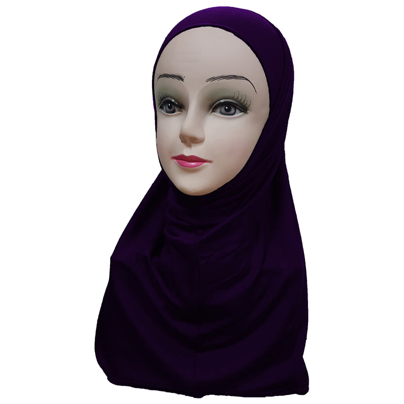 Women's Cotton Amira Hijab Two Piece - Plain Color