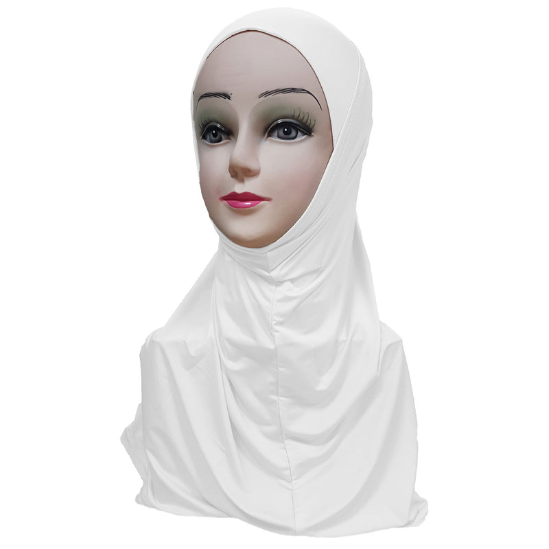 Women's Silky Amira Hijab Two Piece - Plain Color