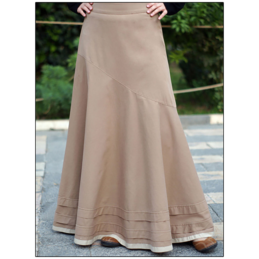 Shukr Asymmetrical Flared Skirt