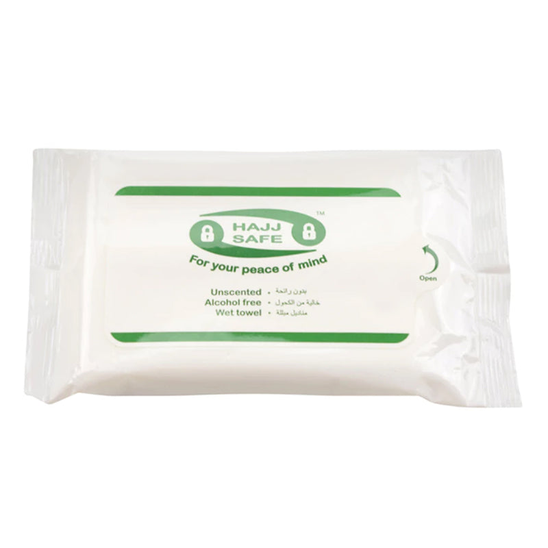 Hajj & Umrah Unscented Wet Wipes - Hand Towels