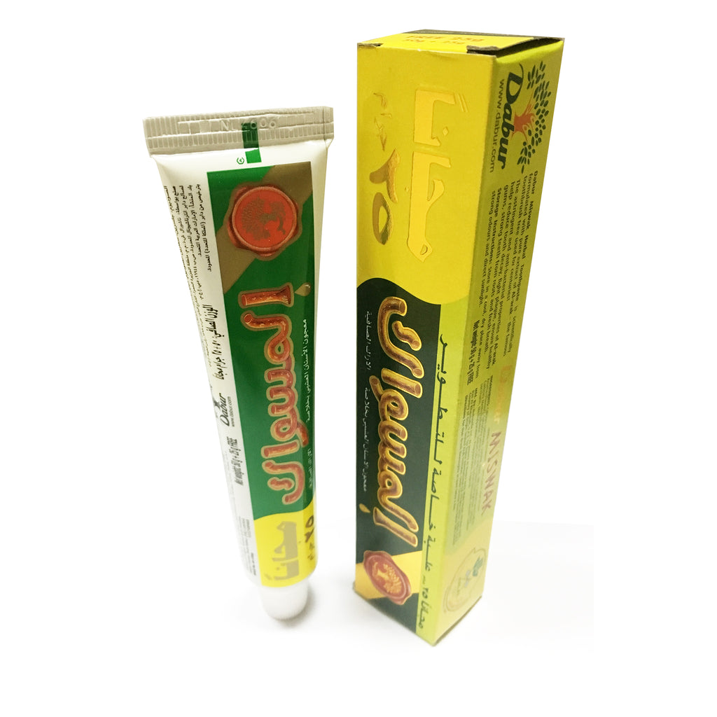 Dabur Miswak Herbal Toothpaste (Net Weight: 50g + 25g Free)