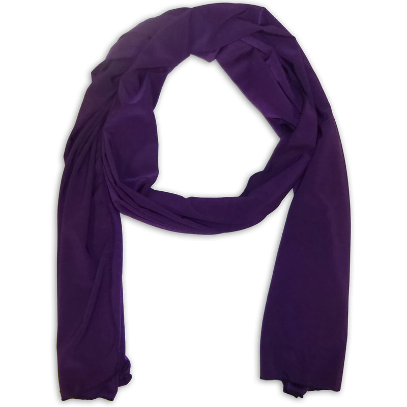 Women's Silky Scarf Wrap Shawl - Plain Color