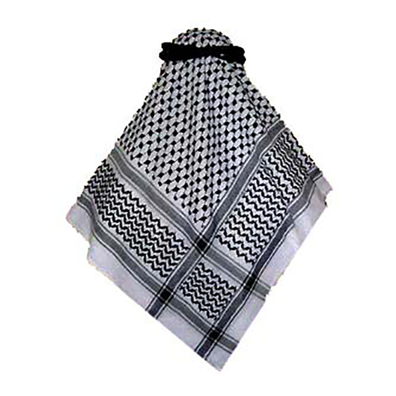 Black & White Keffiyeh/Shemagh (Head Cover) (without Aqal)