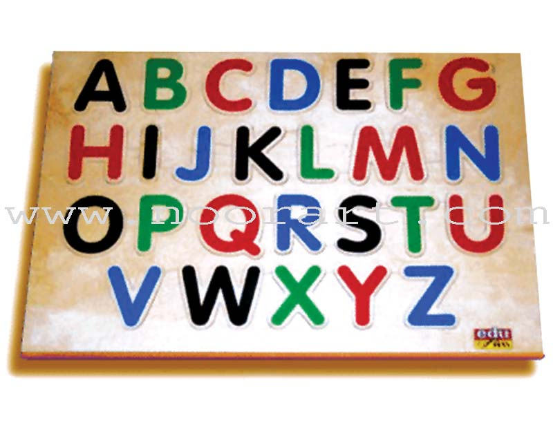 English Alphabet Board Puzzle (Upper Case)
