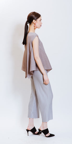 SARAH PLEATED PANTS - GREY