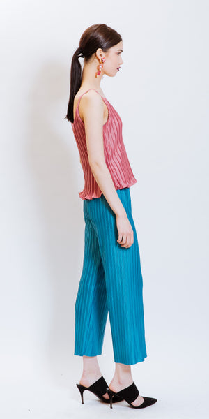 ELEANOR PLEATED TOP - CORAL