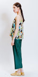 SARAH PLEATED PANTS - EMERALD