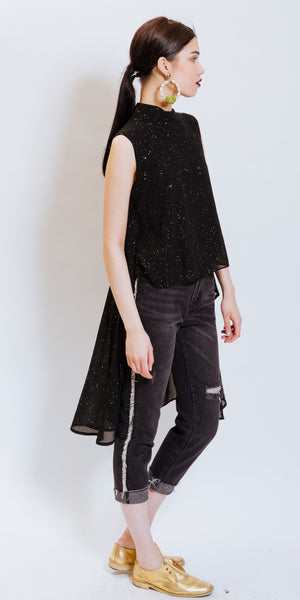 JOYA DISTRESSED JEANS BLACK