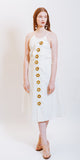 HAILEY BROCADE DRESS WHITE