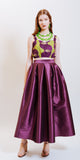 ELISE ANKLE SKIRT - PURPLE