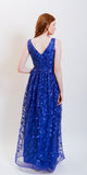 IZY SEQUINS LONG EVENING DRESS BLUE