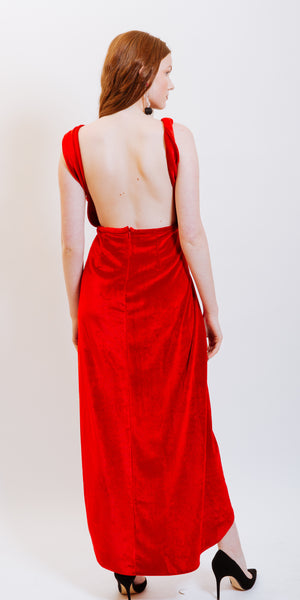 PAIGE VELVET BACKLESS DRESS