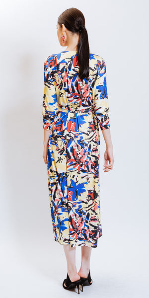 DIANE PRINTED DRESS YELLOW