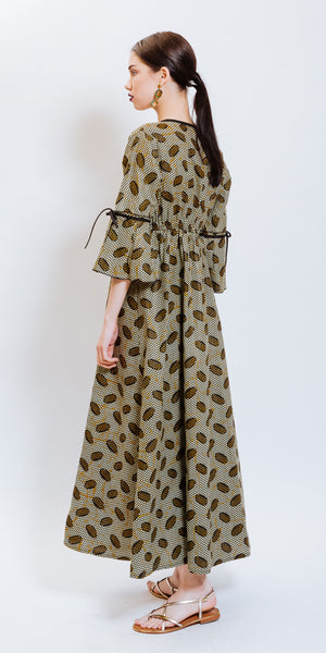 ABA DRESS - BROWN
