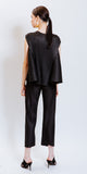 SARAH PLEATED PANTS - BLACK