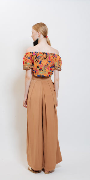Sophie High Waisted Pants Camel