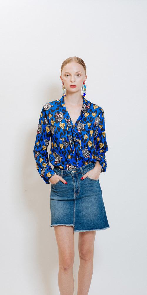 Silvana Tiger Shirt - Blue