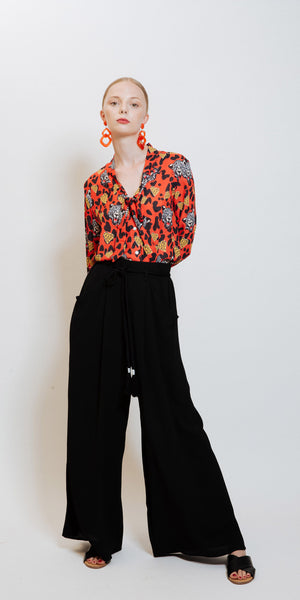 Mimi High Waisted Pants - Black
