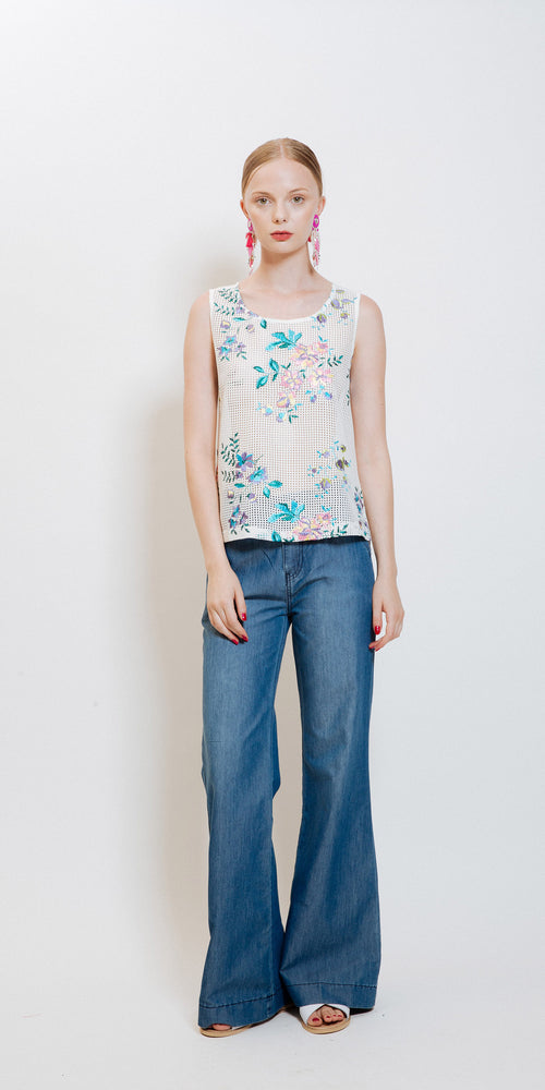 Eliane Embroidered Top