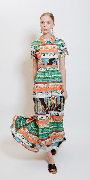 Claire Printed Dress