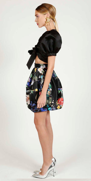 VINTAGE STORY ANNA BALLOON FLOWER SKIRT