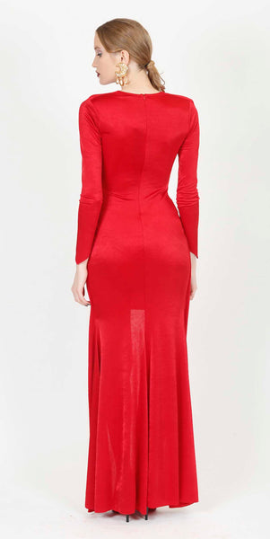 NANCY EVENING DRESS RED