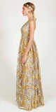 VINTAGE STORY LINSEY MAXI DRESS GOLD/SILVER