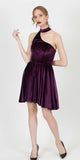YILMA VELVET EVENING DRESS PURPLE