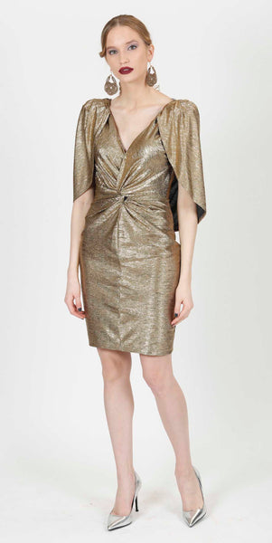 HANA METALLIC DRESS GOLD