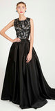 VINTAGE STORY ANGEL MAXI PLEATED SKIRT BLACK