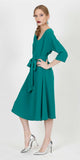 LAUSANE BELTED COCKTAIL DRESS GREEN
