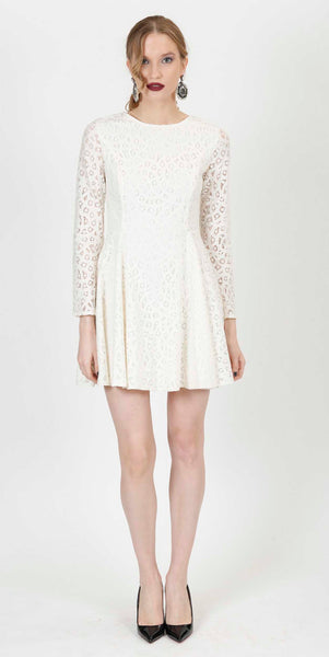 NATASHA LACE DRESS WHITE