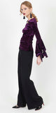 NAWAL PURPLE VELVET TOP