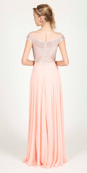 JUSTINE EVENING DRESS POWDER PINK