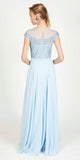 JUSTINE EVENING DRESS BABY BLUE