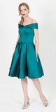 NOON SATIN DRESS GREEN