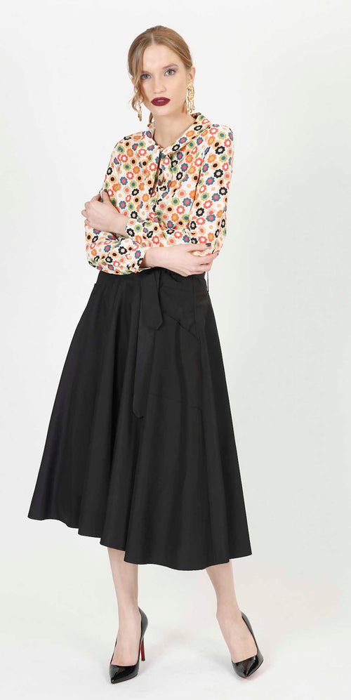 HEBA POCKET SKIRT BLACK