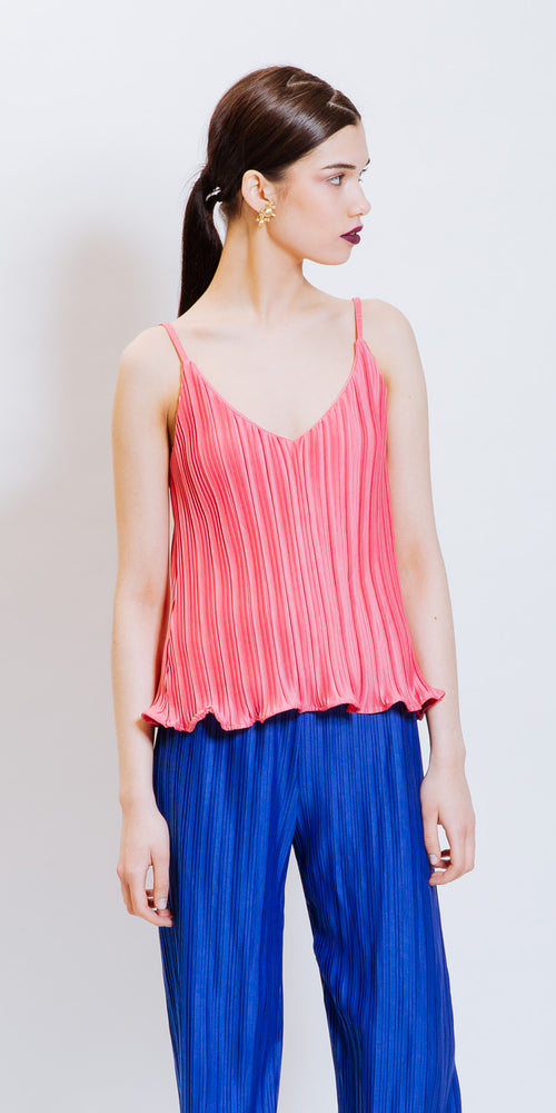 ELEANOR PLEATED TOP - PINK