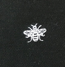 Bee Embroidered Polo Shirt - Black