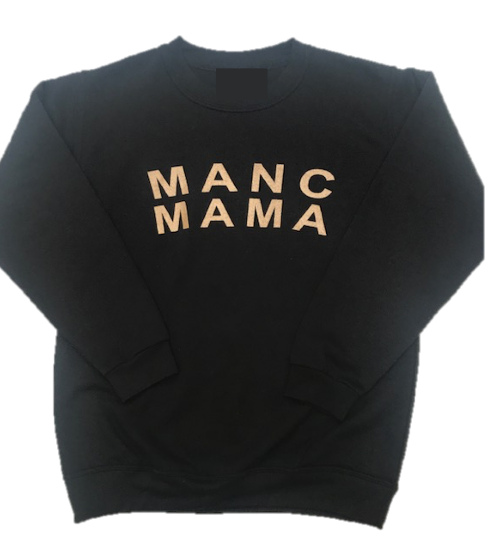 MANC MAMA - Sweatshirt - Black and Gold