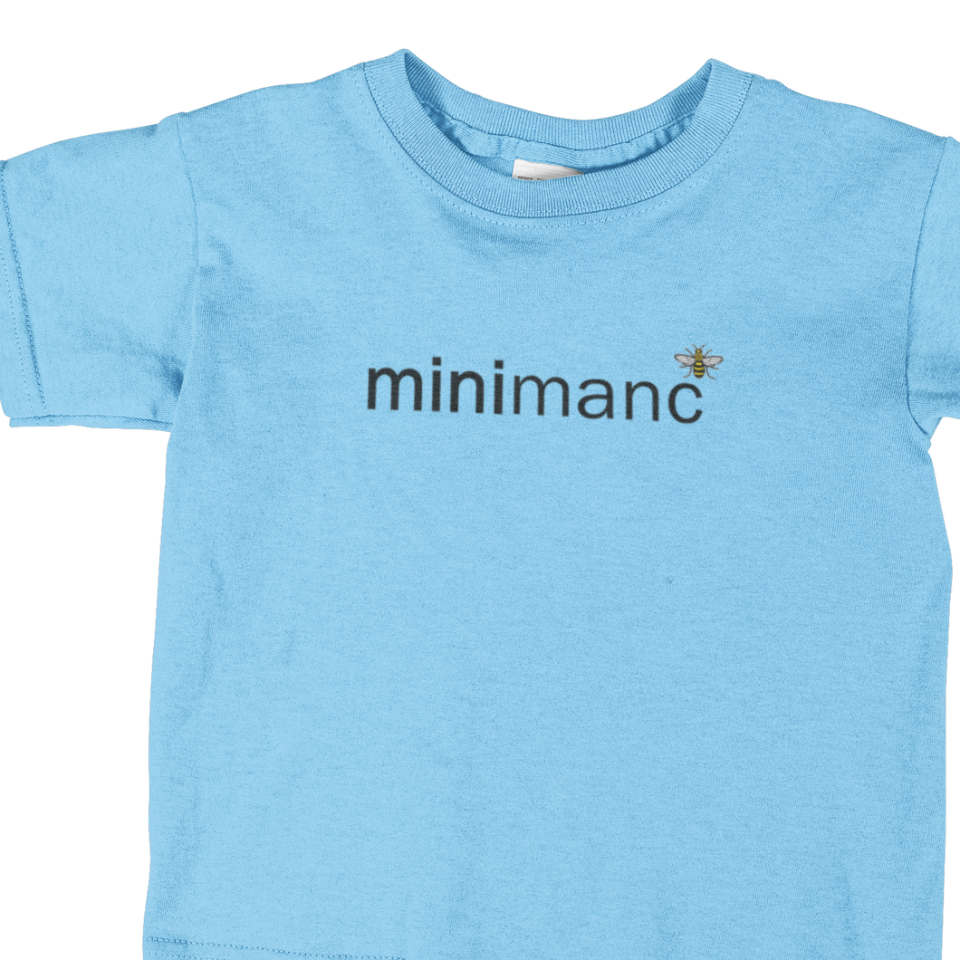 MiniManc T-Shirt - Kids - Sky Blue NOW £10