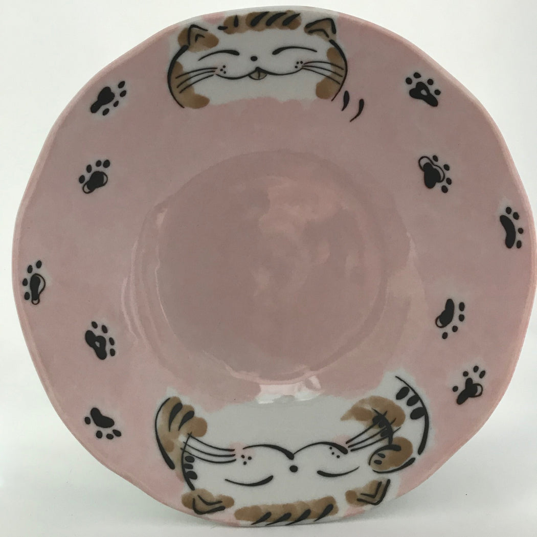 Cat large pink plate 20cm