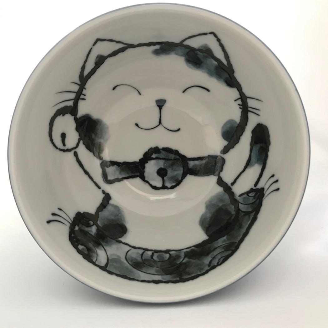 Small Bowl Cat Blue top