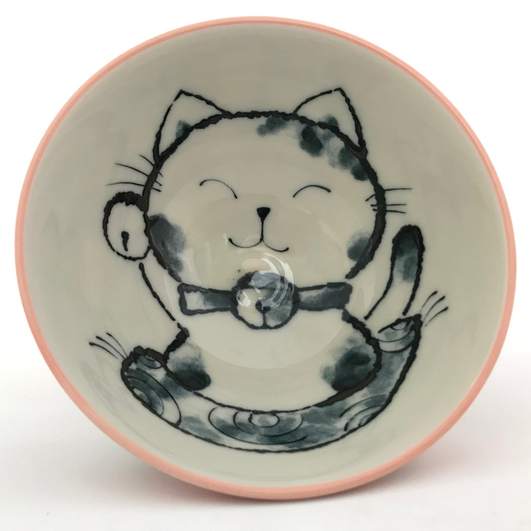 Small Bowl Cat Pink top