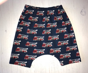 Fire Engine Harem Jersey Shorts