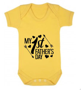 Happy 1st Father's Day Short Sleeve Body