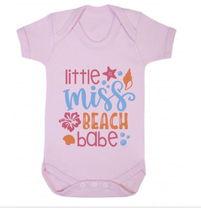 Little Miss Beach Babe Short Sleeve Body