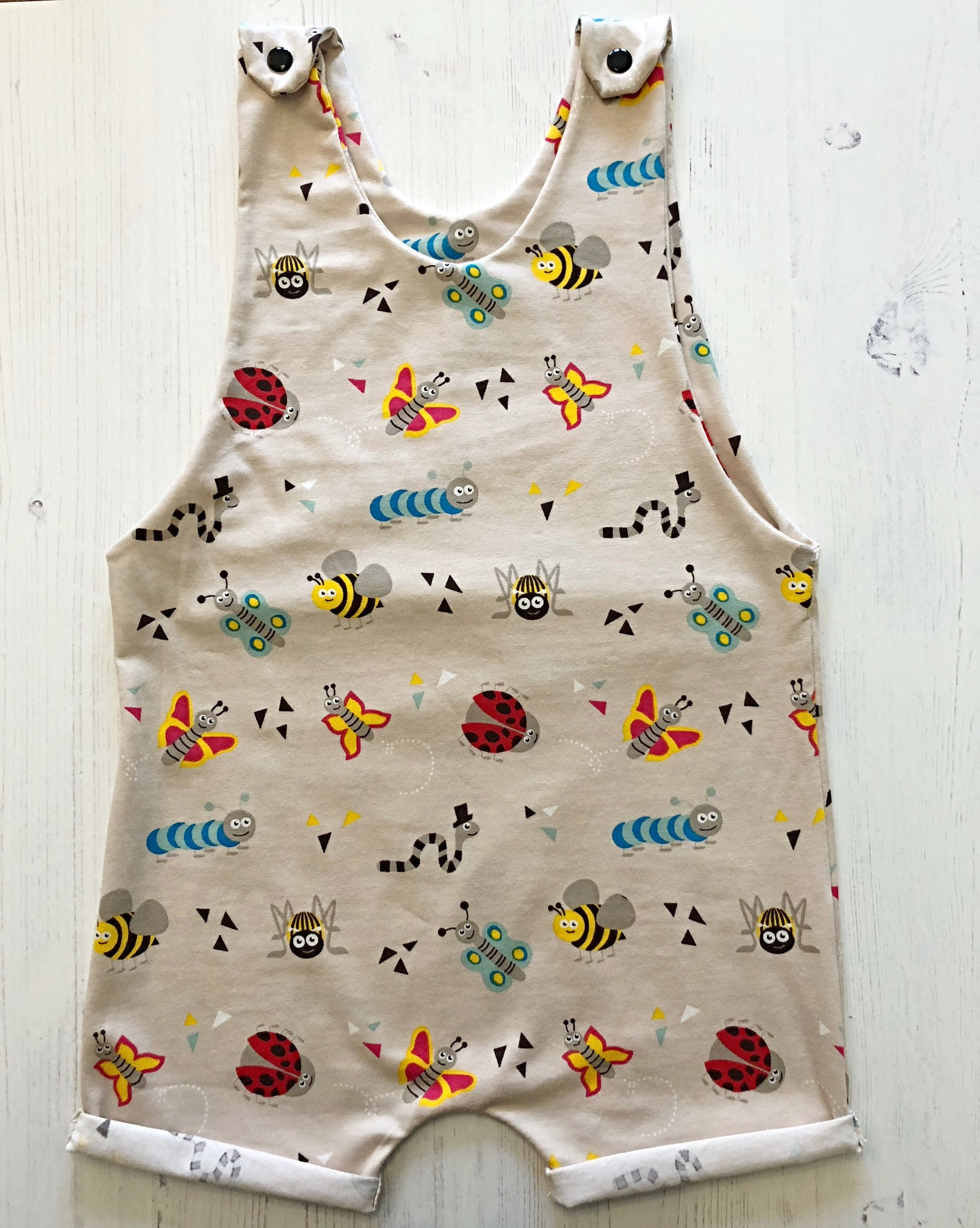 Organic Love Bug Shortie Romper