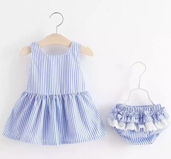 Summer Dress with Matching Frilly Knickers